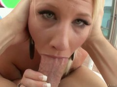 Kimmy Olsen makes her dirty dreams a come true with dudes meat stick deep down her throat